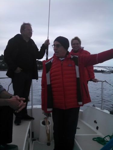 Joe and Germans sail on Lake Union!