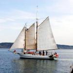 Lavengro under sail